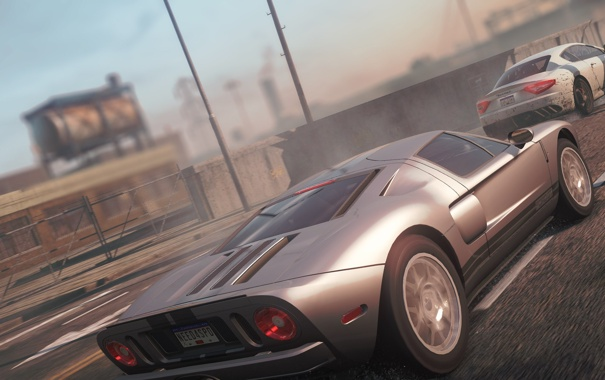 Фото обои город, гонка, Maserati, спорткар, классика, need for speed most wanted 2012, ford gt 40