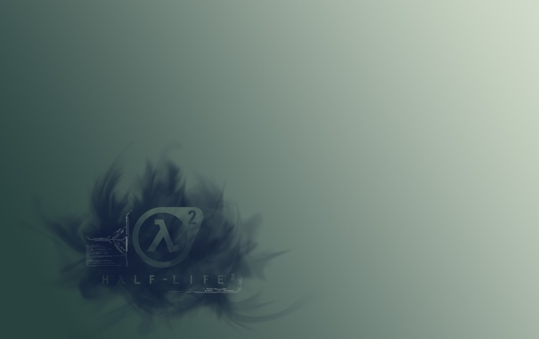 Фото обои фон, дымка, half-life 2, лямбда