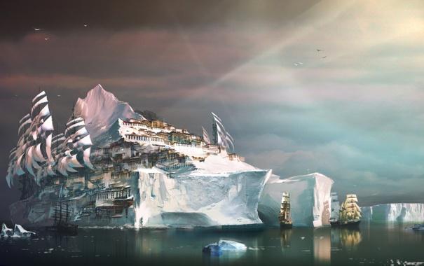 Фото обои city, fantasy, guildwars2