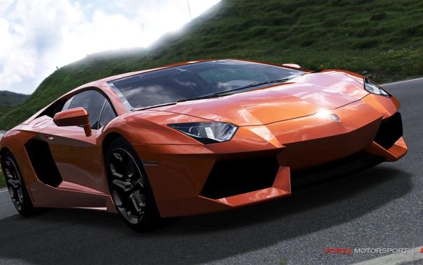 Фото обои гонка, спорткар, lamborghini aventador lp700-4, Forza Motorsport 4