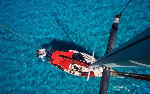 Фото обои отдых, путешествие, яхта, мачта, море