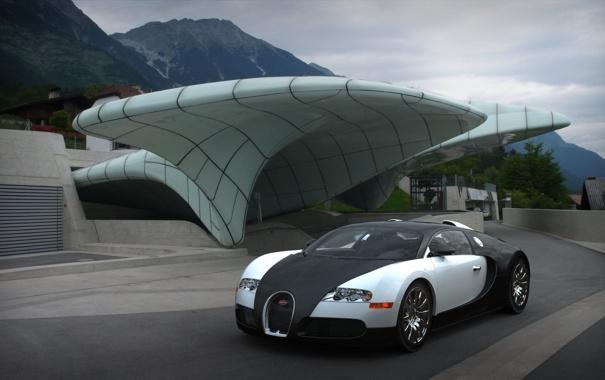 Фото обои veyron, белая, bugatti