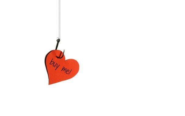 Фото обои праздник, сердце, крючок