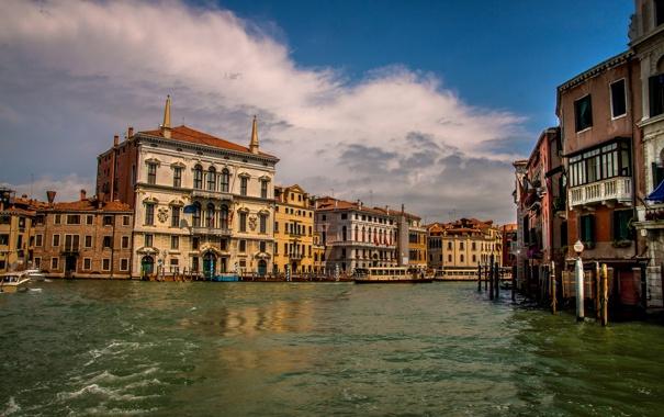 Фото обои дома, Италия, Венеция, канал