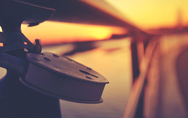 Фото обои осень, закат, Замок