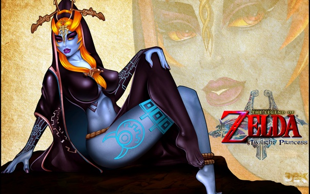 Фото обои грудь, девушка, ноги, art, fan art, The Legend of Zelda: Twilight Princess