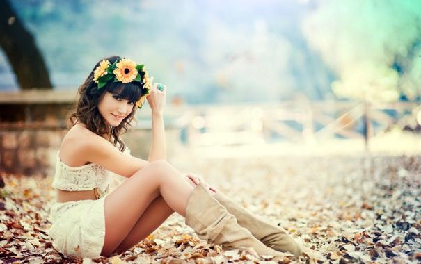 Фото обои Happy, Modelo, Almudena Navarro
