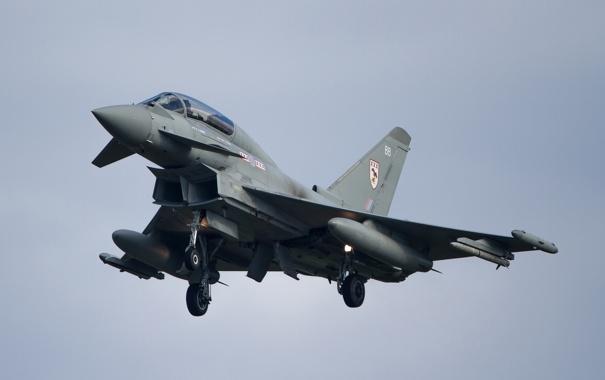 Фото обои небо, истребитель, Eurofighter Typhoon