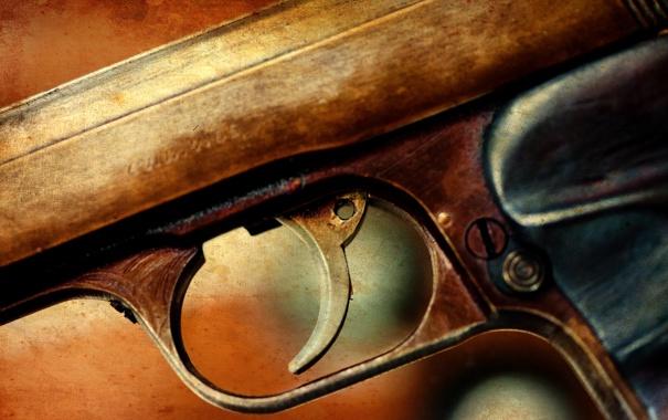 Фото обои пистолет, оружие, фон