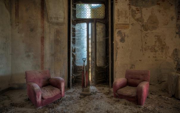 Фото обои фон, комната, кресла