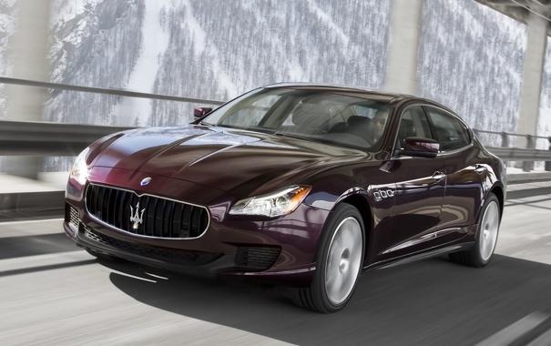 Фото обои машина, авто, Maserati, Quattroporte, скорость, красивое