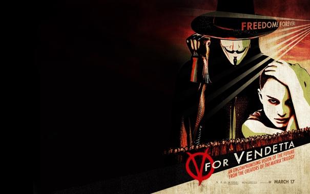 """Фото обои фильм, актёры, Натали Портман, V for Vendetta, Хьюго Уивинг, """"V"""" значит вендетта"""