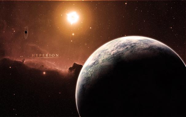 Фото обои солнце, звезды, свет, планета, спутник