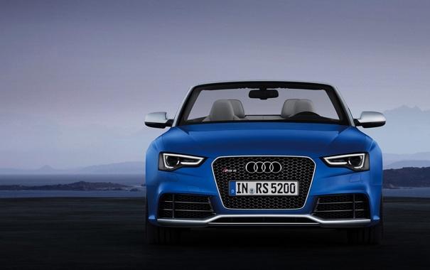 Фото обои Передок, Audi, Авто, Фары, Ауди, Синий, RS5