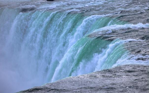 Фото обои река, водопад, поток