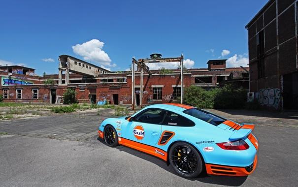 Фото обои car, машина, Porsche, race, задок, CAM SHAFT, 997 Turbo