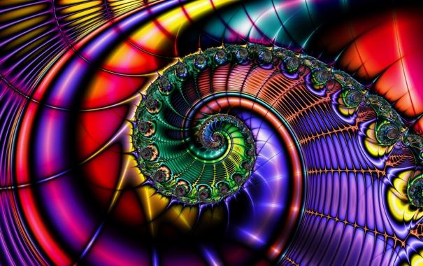 Фото обои узор, цвет, спираль, объем, завиток