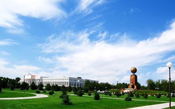 Фото обои облако, монумент, Узбекистан, Ташкент