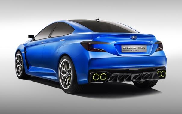 Фото обои Concept, Subaru, Концепт, WRX, вид сзади, Субару