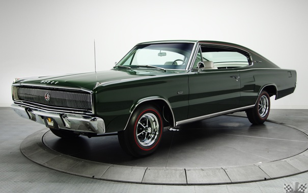 Фото обои Dodge, Charger, 1967, Hardtop, Классическое авто, 426, Hemi