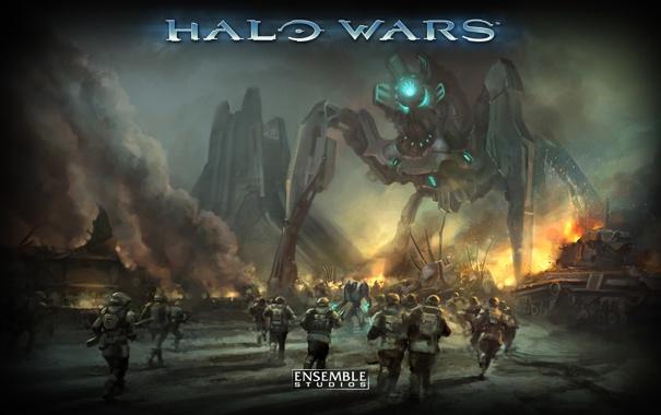 Фото обои война, игра, Halo Wars
