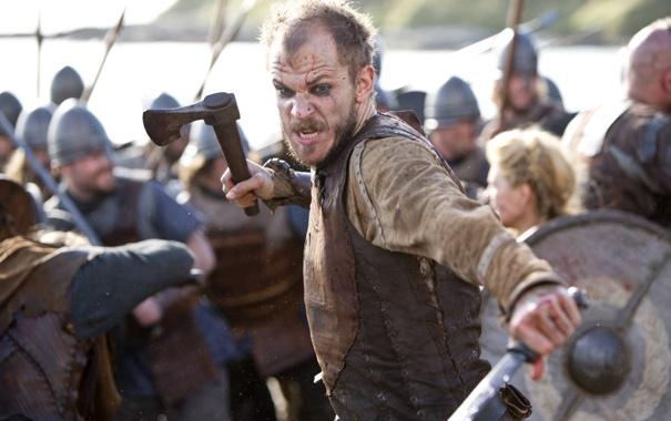 Фото обои драма, Викинги, бой, историческая, Vikings, Gustaf Skarsgård, Floki
