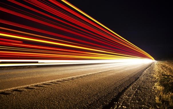 Фото обои Lights, Transportation, Train to Nowhere