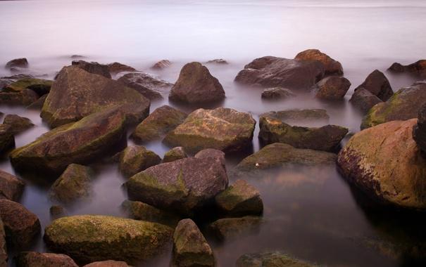 Фото обои море, вода, природа, камни, фото, океан, берег
