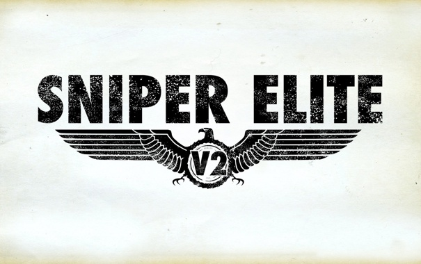 Фото обои игра, логотип, стимулятор, Sniper Elite v2