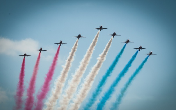 Фото обои авиация, самолёты, Red Arrows