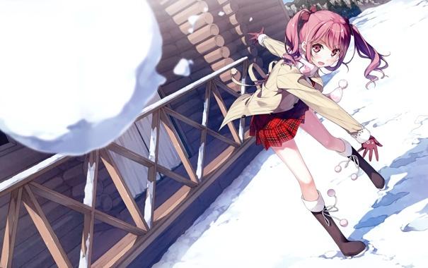 Картинки природы зима аниме