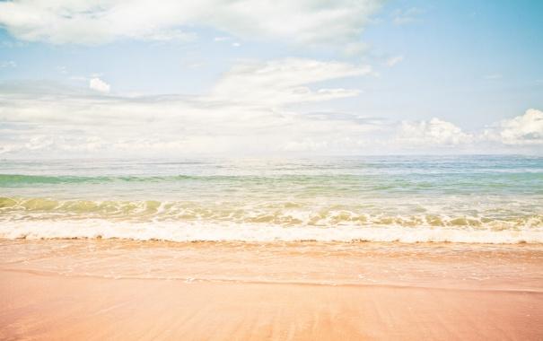 Фото обои песок, пляж, волны