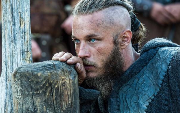 Фото обои взгляд, лицо, сериал, драма, Vikings, историческая, Викинги