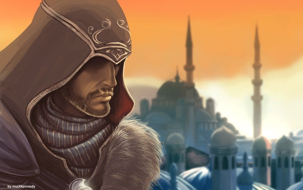 Фото обои мастер, мечеть, Assassins Creed, Revelations, эцио, константинополь
