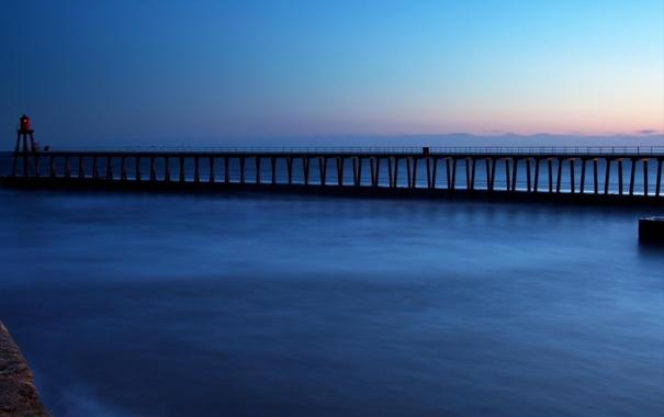 Фото обои море, небо, мост, океан, португалия