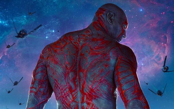 Фото обои Destroyer, Стражи Галактики, Guardians of the Galaxy, Dave Bautista, Drax, Marvel Studios