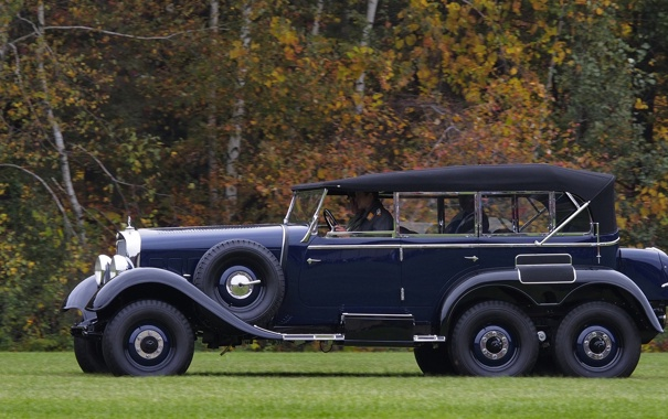 Фото обои Mercedes-Benz, автомобиль, повышенной, проходимости, трёхосный, 1934—1939