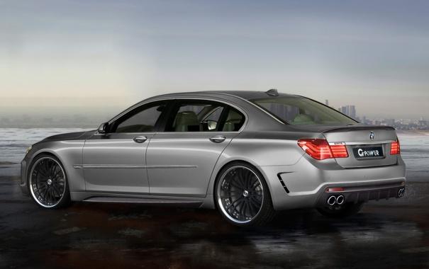 Фото обои BMW, колеса, серая, 760