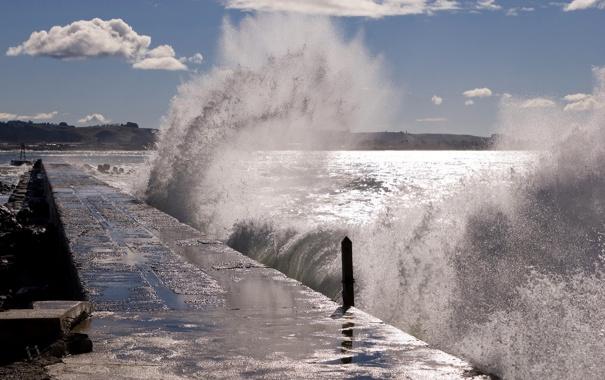 Обои картинки фото море волны прибой