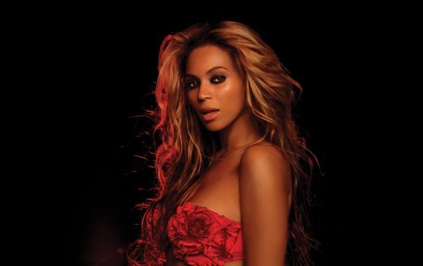 Фото обои темно, dark, Beyonce Knowles, в красном, in red
