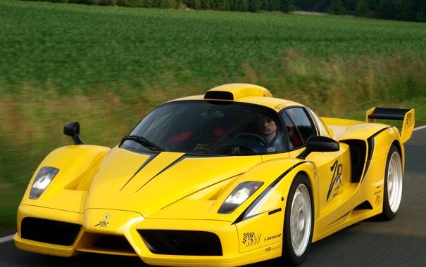 Фото обои машина, феррари, желтая