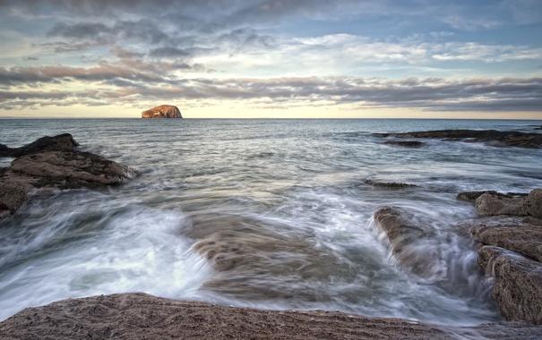 Фото обои пейзаж, природа, побережье, Шотландия, North Berwick