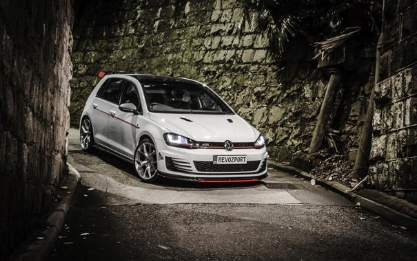Фото обои Volkswagen, гольф, Golf, GTI, фольксваген, 2013, Typ 5G