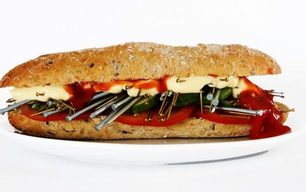 Фото обои еда, хлеб, остро