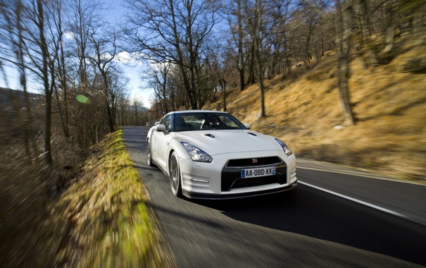 Фото обои дорога, машина, авто, лес, деревья, природа, обои