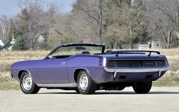 Фото обои muscle car, 1970, Plymouth, задок, плимут, Cuda, Convertible