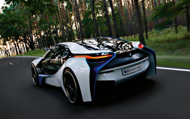 Фото обои Concept, скорость, BMW, концепт, Vision, 2009, EfficientDynamics