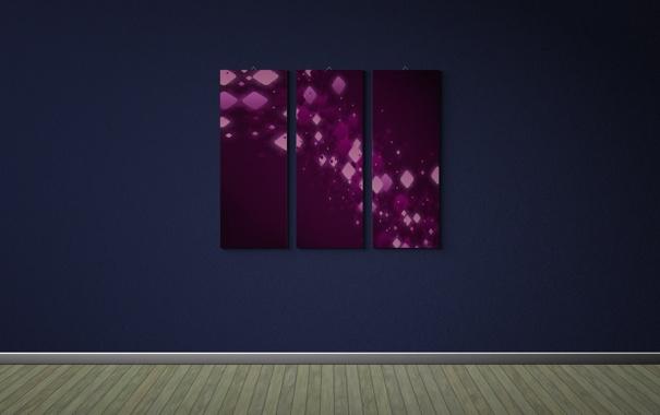 Фото обои креатив, стена, обои, стены, минимализм, картина, картины