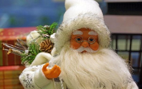 Фото обои подарки, Санта Клаус, мешок, Дед Мороз