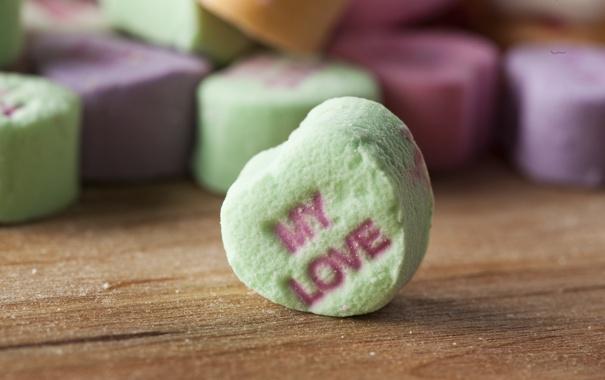 Фото обои любовь, сердце, конфеты, сладости, love, heart, romantic